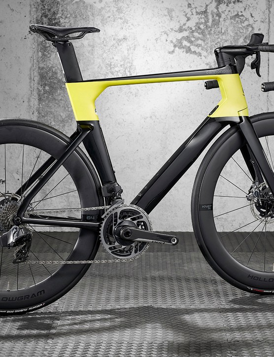 Pack shot of the Cannondale SystemSix HI-MOD Red eTap AXS