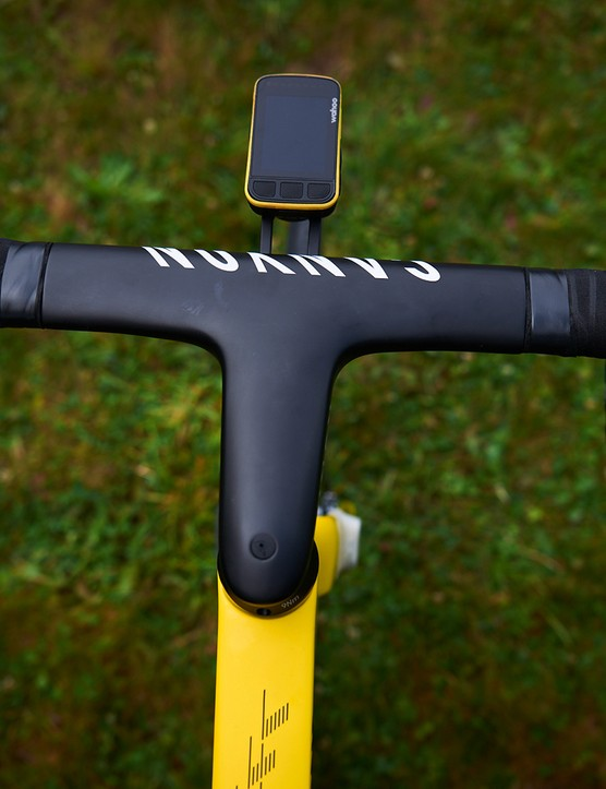 Mathieu van der Poel 2021 Tour de France yellow Canyon Aeroad custom MVDP