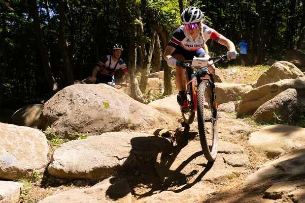 Evie Richards practice session at the 2020 Olympic Games