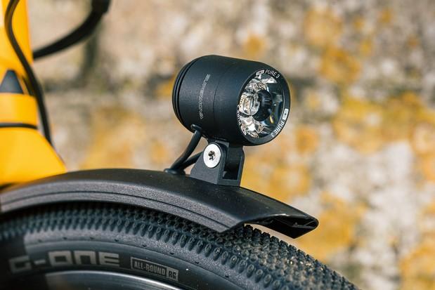 Light up: Shimano's DH-3D37 Dynamo lighting system.