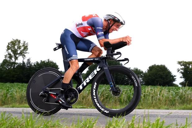 Bauke Mollema Trek - Segafrade sur un nouveau vélo Trek TT