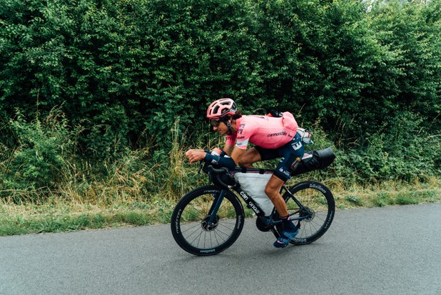 Lachlan Morton's Alt Tour bike and bikepacking setup