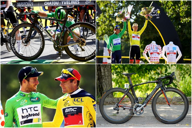 From 2011 to 2021: comparing Mark Cavendish's Tour de France green jersey bikes