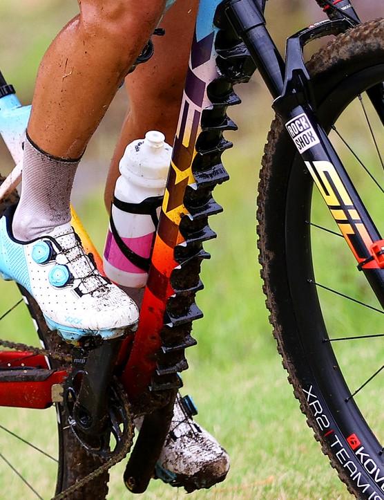 Jolanda Neff's Trek XC bike at the Tokyo 2020 Olympics
