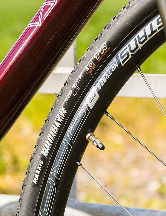 The Vaast A/1 gravel bike is equipped with Rambler tyres