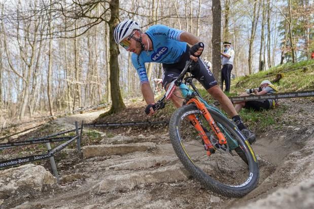 Victor Koretzy at the Albstadt 2021 Mercedes-Benz UCI Mountain Bike World Cup