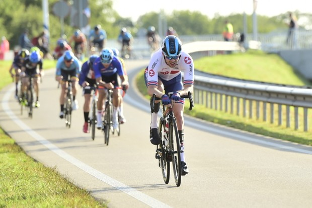 Jaco van Gass competing in a road race