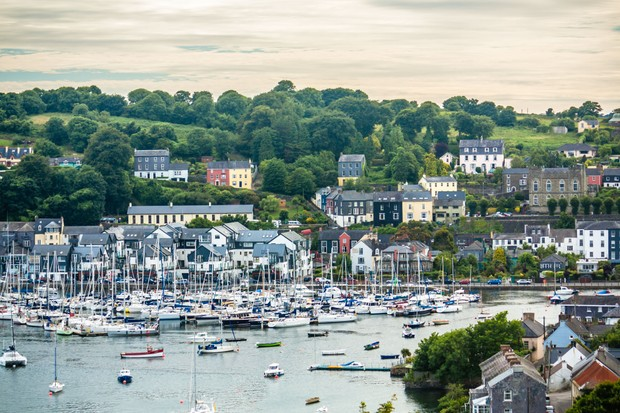 View of the Kinsale Harbour during sunset, County Cork, Ireland