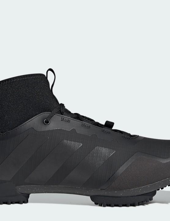 Adidas Gravel Shoe in black side profile