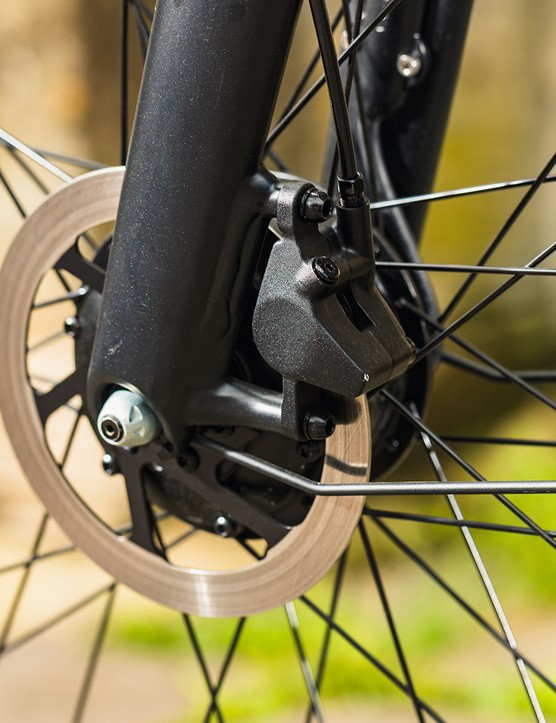 The VanMoof 3 eBike is fitted with VanMoof hydraulic disc brakes