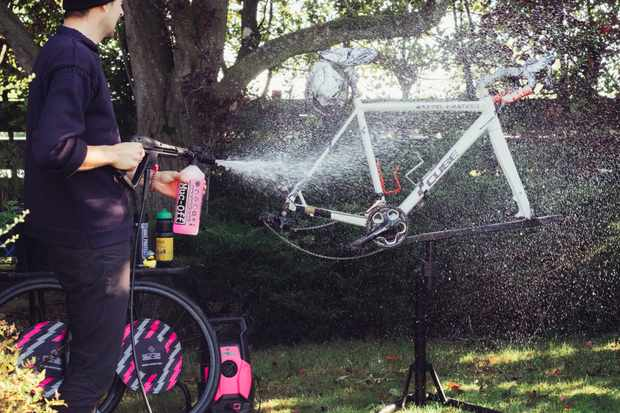 How to pressure wash a bike safely