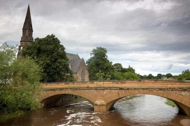 Telford Bridge Over River Wansbeck, Morpeth, Northumberland, England