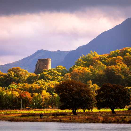 Dolbadarn Castle, Llyn Padarn, Llanberis, Wales