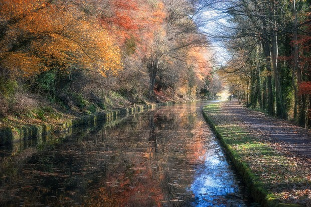 The Kennet and Avon Canal in autumn
