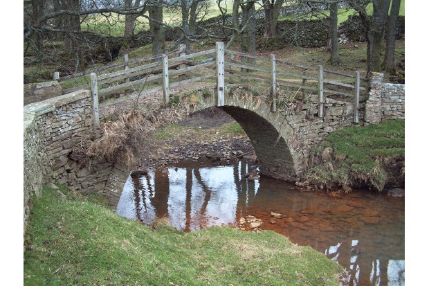 Packhorse bridge at Sedbust, North Yorkshire