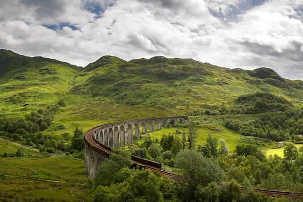 Countryside railway line