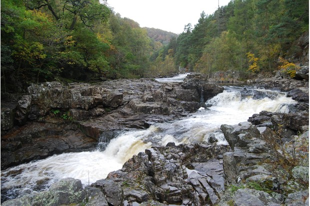 Linn of Tummel waterfall, Perthshire