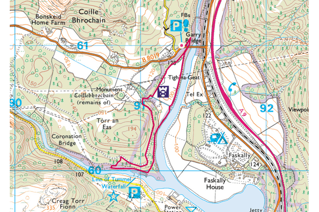 Pitlochry map