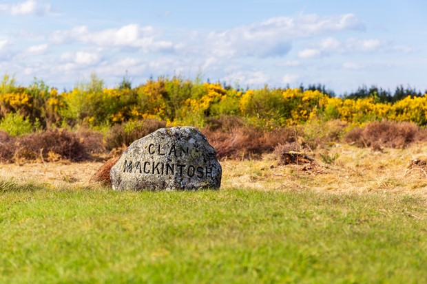 Clan stones at the Battlefield of Culloden