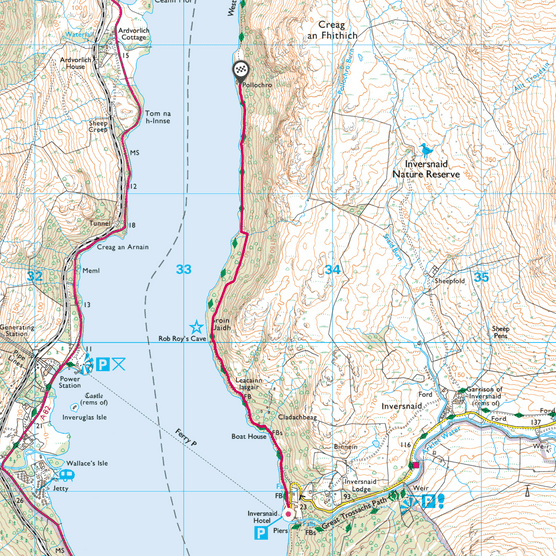 Loch Lomond map