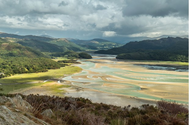 View of the Mawddach Estuary from the hills behind Barmouth