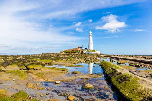 St. Marys Lighthouse on St. Marys Island, Tyne and Wear