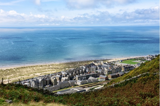 Seaside town of Barmouth in west Wales