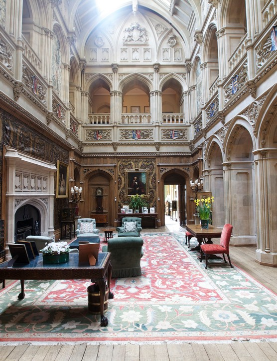 The Saloon in Highclere Castle, Downton Abbey