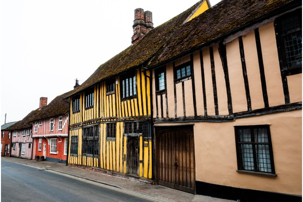 Lavenham, Suffolk, from the BBC's classic series Lovejoy (Photo by: Getty Images)