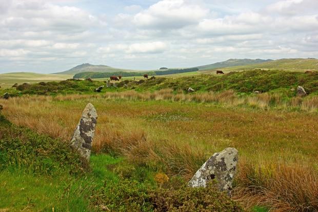 Moorland and rocks