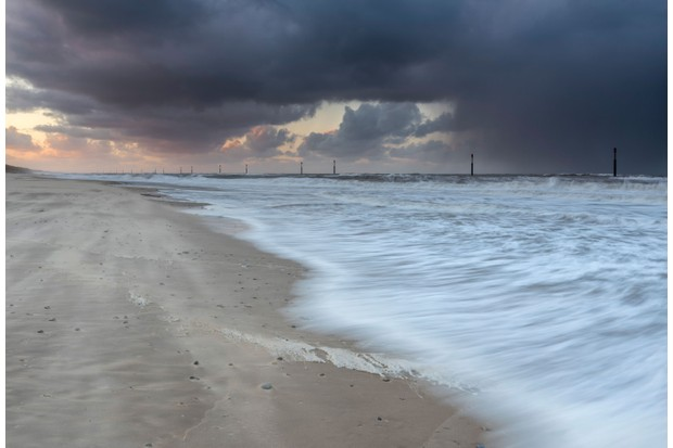 Storm at Waxham Norfolk