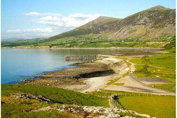 Gyrn Goch and Gyrn Ddu from the Clogwyn, Morfa, Trefor, Lleyn peninsula, Gwynedd, North Wales.