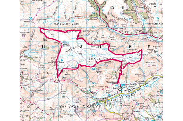 Kinder Scout map