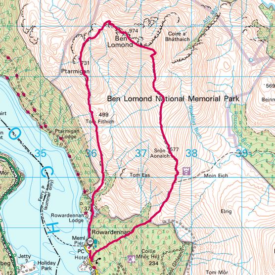 Ben Lomond map