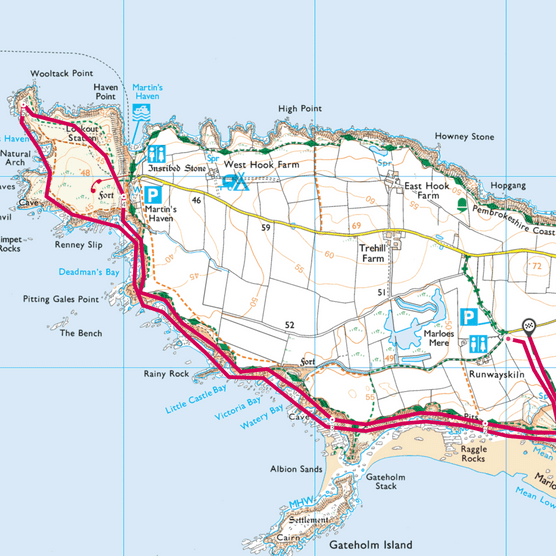 Marloes Peninsula map