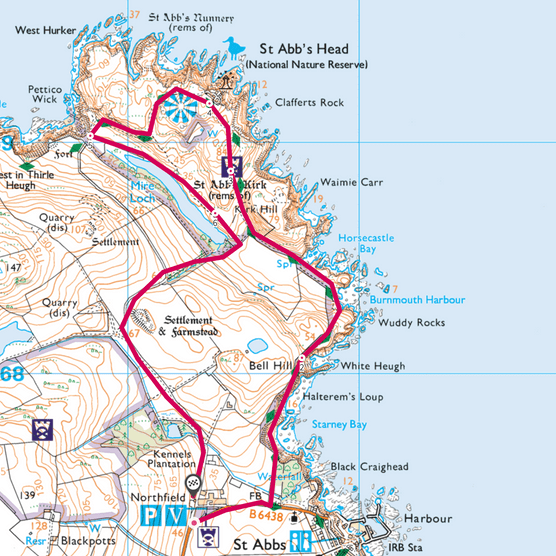 St Abb's Head map