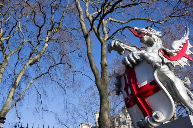 Boundary Dragon on Victoria Embankment, London