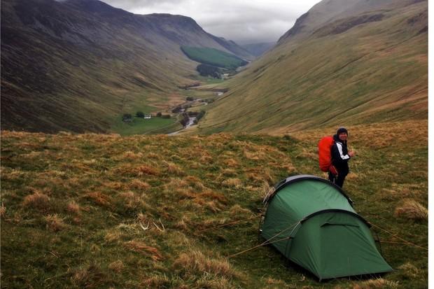Glen Tilt camping