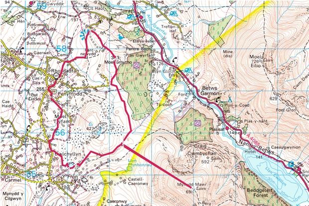 Rhosgadfan map