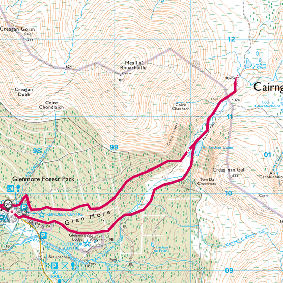 Glenmore Forest Park map