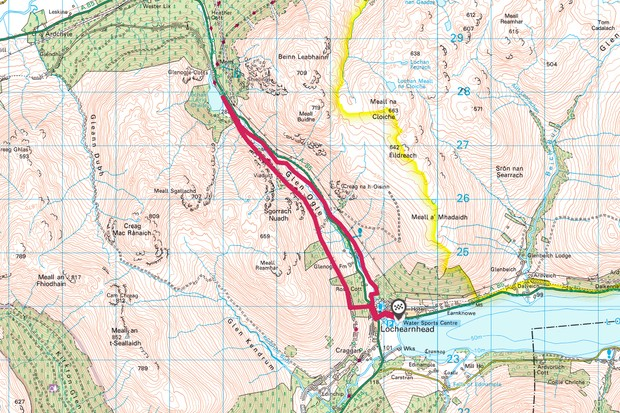 Glen Ogle map