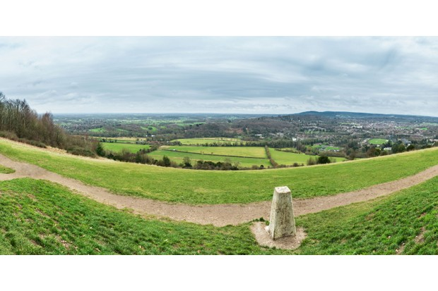 Box Hill Surrey view from trigpoint