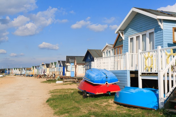 Mudeford Beach Huts, Sandbank