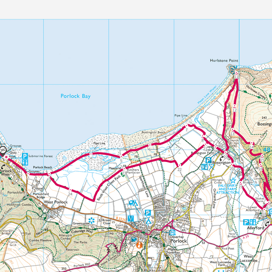 Porlock Bay map