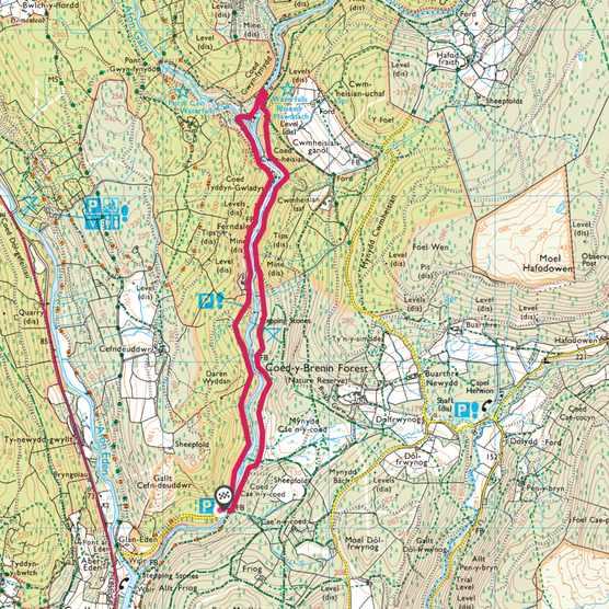 Coed y Brenin map