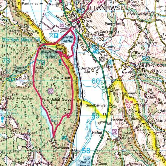 Gwydir Castle map