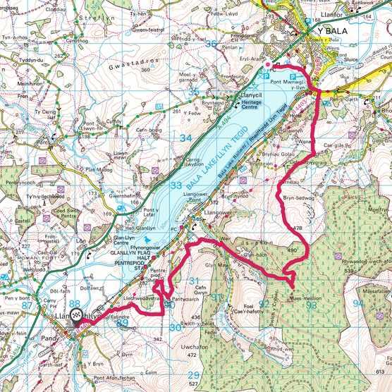 Llyn Tegid map
