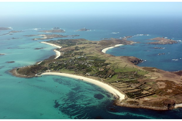 Aerial view of St. Martin's, Isles of Scilly (Photo by: JulieVMac via Getty Images)