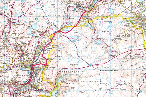 Saddleworth Moor map