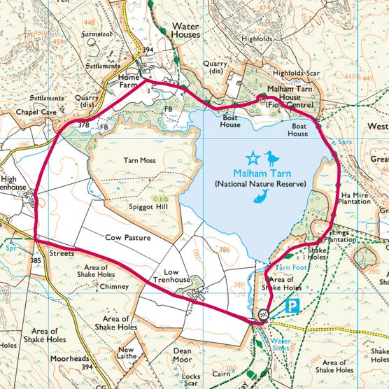 Malham Tarn map